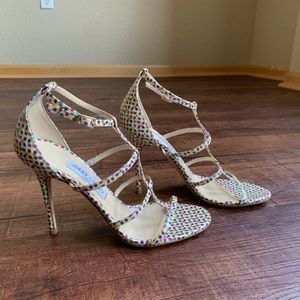 Jimmy Choo Shoes - Jimmy choo colorful dots open toe strappy sandals